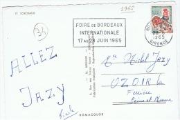 """France:marcophilie. Bordeaux.""""foire De Bordeaux Internationale    1965"""" - Marcofilie (Brieven)"""