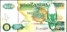 ZAMBIA  P36b 20  KWACHA  1992 #A/C Signature 11    UNC. - Zambia
