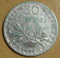 50 CENTIMES SEMEUSE 1911 - France