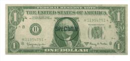 ETATS UNIS 1 DOLLARS  NEUF SPECIMEN - Collections