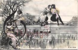 Carte Montage - Une Portée De Notes De Musique - Femmes Et Enfants - Surrealisme - Reach Of Musical Notes - - Sin Clasificación