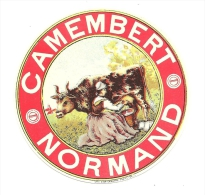 Ancienne Etiquette Fromage  Camembert Normand - Fromage