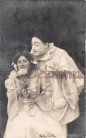 Lot 2 CPA - Pierrot Et Colombine - Les Pechés Capitaux - La Luxure Et L'ouie -Deadly Sins - The Lust And The Hearing - - Fancy Cards