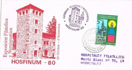 7119. Carta Exposicion Filatelica HOSPITALET (Barcelona) 1980 - 1931-Hoy: 2ª República - ... Juan Carlos I