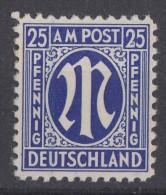 AM-Post Minr.9 Plf. III Postfrisch - Bizone