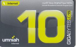 JORDAN - Umniah internet prepaid card JD15, exp..date 01/01/10, mint