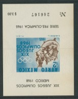 BL4-65 MEXICO 1965 M/S, BLOCK, SPORT, PRE OLYMPICS 1968. MNH, POSTFRIS, NEUF**. - Zomer 1968: Mexico-City