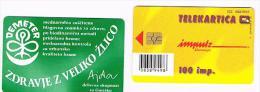 SLOVENIA (SLOVENIJA)  - IMPULZ -  2000 DEMETER   100 IMP. (TIRAGE 5000) - USATA (USED)°  -  RIF. 3081 - Slovenia
