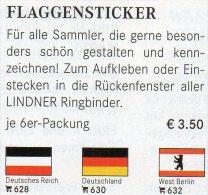 3x2 Flags In Color Variabel Flaggen In Farbe 4€ Zur Kennzeichnung Von Buch,Alben+Sammlung LINDNER #600 Flag Of The World - Télécartes