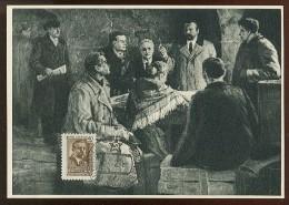 CARTE MAXIMUM CM Card USSR RUSSIA Lithuania Kapsukas Politic Painting - 1923-1991 USSR