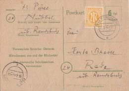 Ganzsache Minr.P783 Mit Zfr. Rendsburg 27.3.46 - Bizone