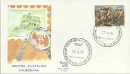 VARALLO SESIA-MOSTRA  FILATELICA VALSESIANA-BOLLO SPECIALE-27-06-1970 - Filatelia & Monete