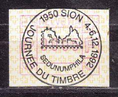 Sonderstempel: Sion, Journee Du Timbre 1992, Auf Automatenmarke (47159) - Automatic Stamps