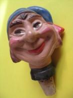 Marionnette/Tête Montée Sur Bouchon/ Meunier/ En Terre Moulée  /Vers 1930-1950      JE85 - Toy Memorabilia