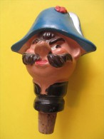 Marionnette/Tête Montée Sur Bouchon/Gendarme  / En Terre Moulée  /Vers 1930-1950      JE88 - Toy Memorabilia