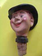 Marionnette/Tête Montée Sur Bouchon/Breton / En Terre Moulée  /Vers 1930-1950      JE90 - Toy Memorabilia