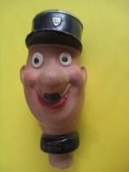 Marionnette/Tête Montée Sur Bouchon/Agent De Police  / En Terre Moulée  /Vers 1930-1950      JE89 - Toy Memorabilia