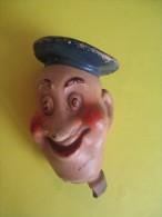 Marionnette/Tête Montée Sur Bouchon/Marin   / En Terre Moulée  /Vers 1930-1950      JE92 - Toy Memorabilia