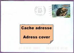 Enveloppe France Avec Timbre De 2001: Hérisson Animal - France