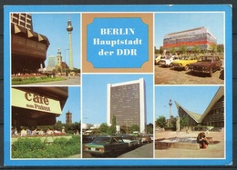 Berlin / Mehrbildkarte / Oldtimer / Cafe Am Palast - N. Gel. - DDR - Bild U. Heimat   A1/650/84    01 15 0440 - Mitte