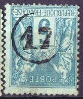 Oblitération Du Jour De L´An -  Cachet De Facteur 17 - 1876-1898 Sage (Type II)