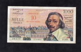 France- 1000 Francs Richelieu Surcharg�