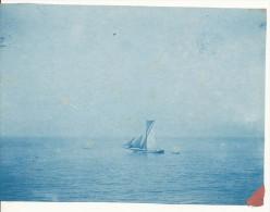 P58 - Cyanotype - Voilier ancien en mer