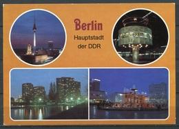 Berlin Bei Nacht / Mehrbildkarte - N. Gel. - DDR - Bild Und Heimat   A1/943/85   01 15 0497 - Mitte