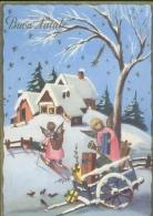 Buon Natale - Bambini - 5106-50-1963 - Formato Grande Viaggiata - Noël
