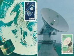 CHINA -  1986 , 6 Maximum Cards - Raumfahrt - Covers & Documents
