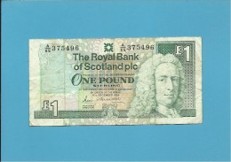 SCOTLAND - UNITED KINGDOM - 1 POUND - 13.12.1988 - P 351a - THE ROYAL BANK OF SCOTLAND PLC - [ 3] Scotland