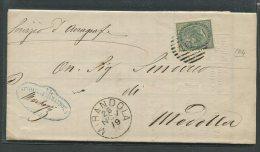 1879  RARA  COLLETTORIA  DA  MIRANDOLA   MODENA  X  MEDOLLA - 1861-78 Vittorio Emanuele II
