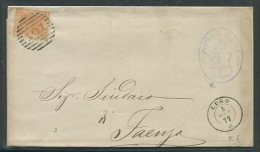 1877  RARA  COLLETTORIA  DA  LUGO  X  FAENZA - 1861-78 Vittorio Emanuele II