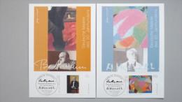 Deutschland Bund 2315/6 Maximumkarte MK/MC, ESST, Gemälde V. Max Beckmann (1884-1950) Und Adolf Hölzel (1853-1934) - [7] Federal Republic