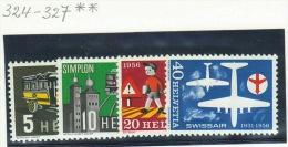 Suisse //Schweiz // Svizzera // Switzerland // 1956, Timbres De Propagandes, Zumstein 324-327 ** - Suisse