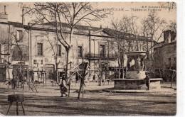 66 Perpignan   La Theatre Et La Fontaine Animée Editeur B.F.chalons Sur Saone - Perpignan