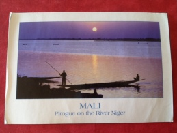 Mali. Pirogue On The Rivier Niger -> Belgique - Mali