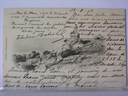 22 - PLOUMANACH - LE PHARE - THEODORE BOTREL - ANIMEE - DOS SIMPLE - 1902 - Ploumanac'h