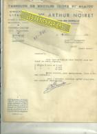 62 - Pas-de-calais - ARLEUX-EN-GOHELLE - Facture NOIRET - Fabrique De Meubles Chêne Et Acajou -  – 1951 - France