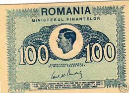 VERY RARE Romania / Rumänien 100 Lei 1945 Banknote - Roemenië