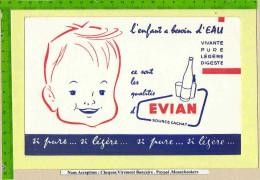 BUVARD : L�Enfant a besoin d�eau EVIAN