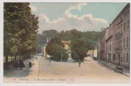 Epinal -  La Rue Jeanne D'Arc Et Le Square - Epinal