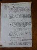 17 NEUVICQ 1846  Rougier Procès Vs P. Grassin, Barbezieux ; Ref 595 - Documenti Storici
