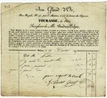 Facture 1835 Au Gland D'Oo Rue Royale Orléans Tourasse De Paris Successeur De M. Boidron-Pichon Fil à Coudre ... - France