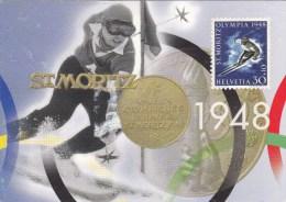 LA POSTE SUISSE A NAGANO   ST.MORITZ 1948 - GR Grisons