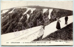 Gérardmer (88) - Le Sommet Du Hohneck Couvert De Neige - Circulé En 1917 - Gerardmer