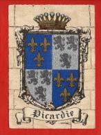 1287 -PICARDIE   -   Blason, Ecusson - Barré-Dayez   (recto-verso) - Picardie