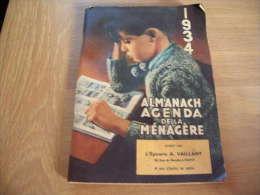 EPICERIE VAILLANT VICHY ALMANACH DE LA MENAGERE 1934 - Advertising