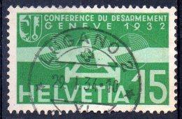 """Suisse ; Helvetia  ; 1932 ; N°Y:  A 16 ;  Ob , Cachet Lugano ; """" Desarmement """" ;cote Y : 3.00 E. - Suisse"""