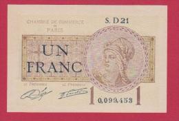 PARIS  //   1 FRANC  //  1919   //  ETAT  UNC - Chamber Of Commerce